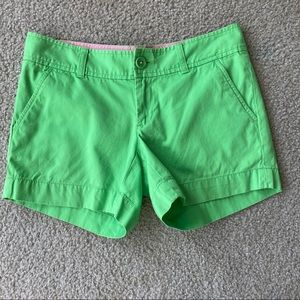 Lilly Pulitzer Green Callahan Preppy Shorts Size 2
